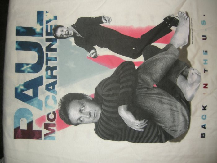 PAUL McCARTNEY 2002 TOUR SHIRT Back in the US pics the beatles XL NEW!
