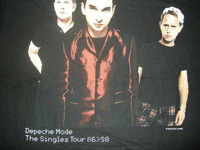 DEPECHE MODE SHIRT Singles Tour 1998 XL