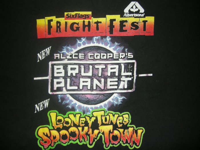 ALICE COOPER SHIRT Brutal Planet ride six flags texas XL PROMO