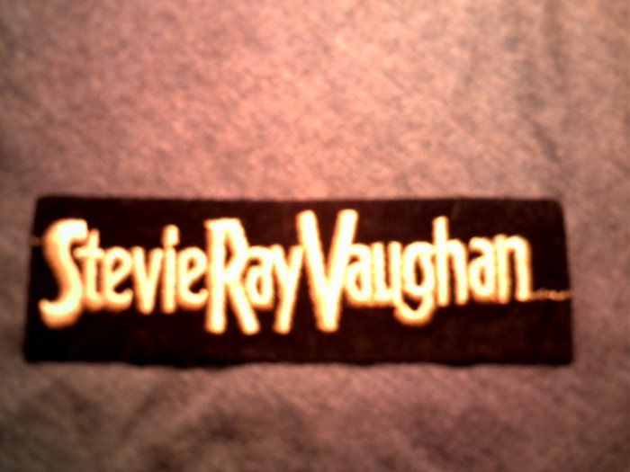 STEVIE RAY VAUGHAN iron-on PATCH yellow logo srv VINTAGE