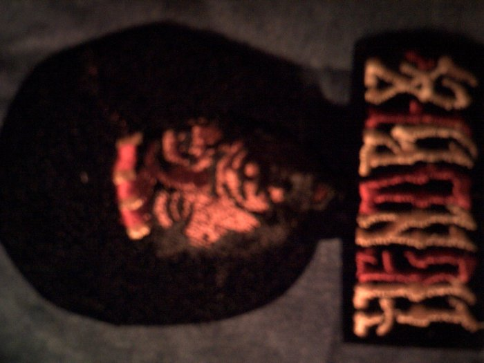 JIMI HENDRIX iron-on PATCH big head logo VINTAGE