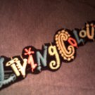 LIVING COLOUR iron-on PATCH color logo VINTAGE
