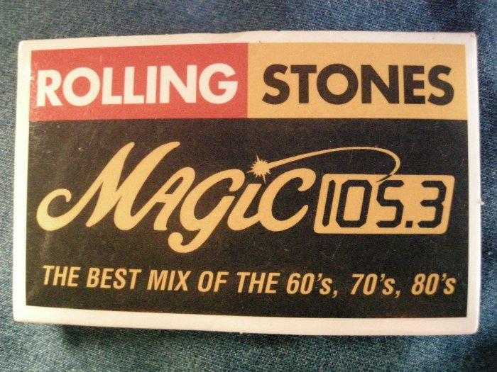 THE ROLLING STONES PINBACK BUTTON magic 105.3 concert radio PROMO
