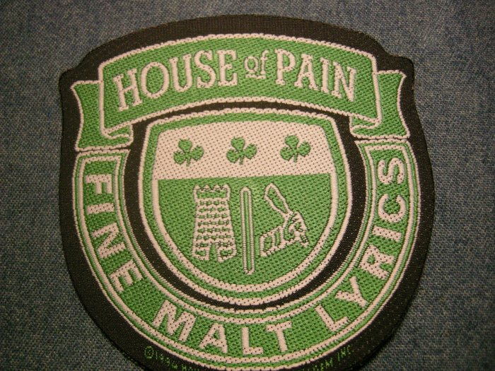 HOUSE OF PAIN sew-on PATCH Malt Lyrics green IMPORT
