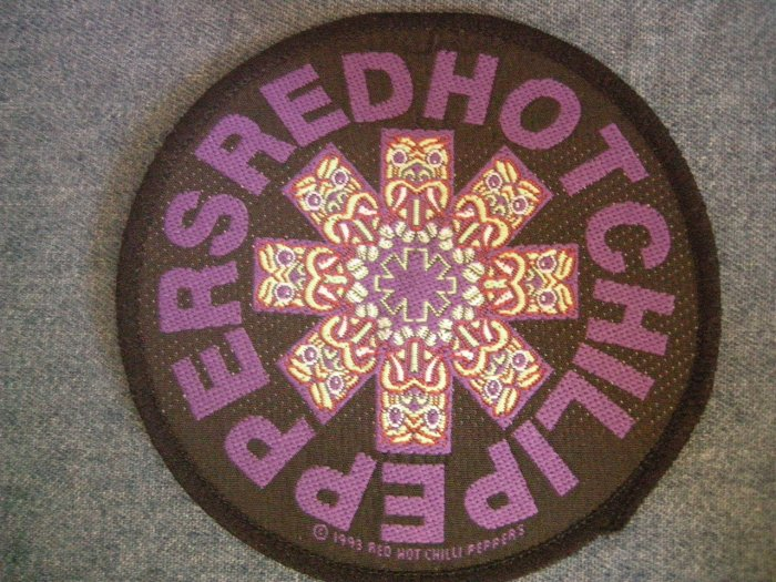 RED HOT CHILI PEPPERS sew-on PATCH purple totem rhcp round IMPORT