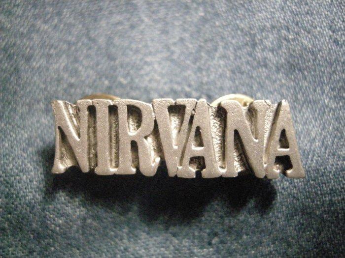 NIRVANA METAL PIN logo kurt cobain badge VINTAGE