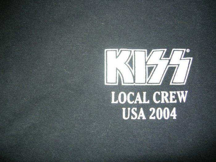 KISS SHIRT 2004 Tour XL LOCAL CREW ONLY!