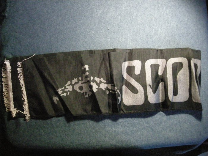 SCORPIONS FABRIC SCARF banner import VINTAGE 80s!