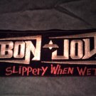 BON JOVI iron-on PATCH Slippery When Wet jon VINTAGE JUMBO