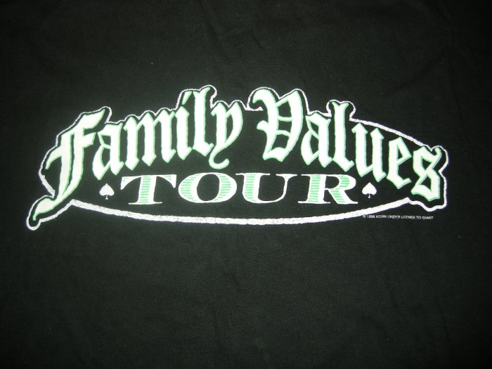 KORN 1998 TOUR SHIRT Rammstein Orgy Ice Cube family values XL