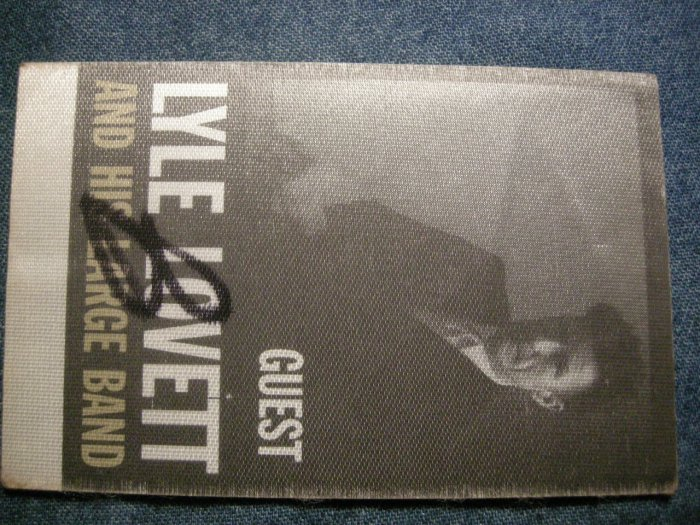 LYLE LOVETT BACKSTAGE PASS And His Large Band guest bsp HTF!
