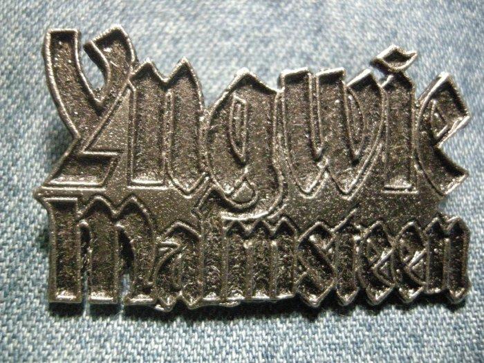 YNGWIE MALMSTEEN METAL PIN logo badge IMPORT
