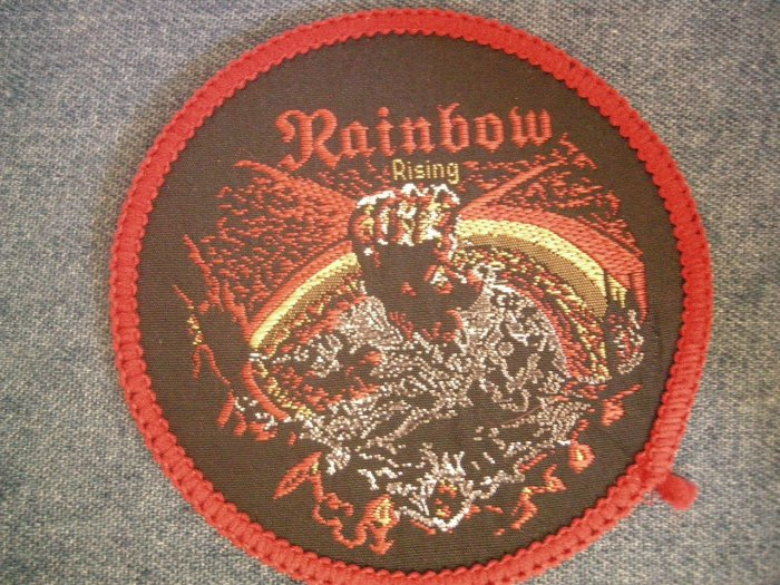 RAINBOW sew-on PATCH Rising ritchie blackmore dio round VINTAGE