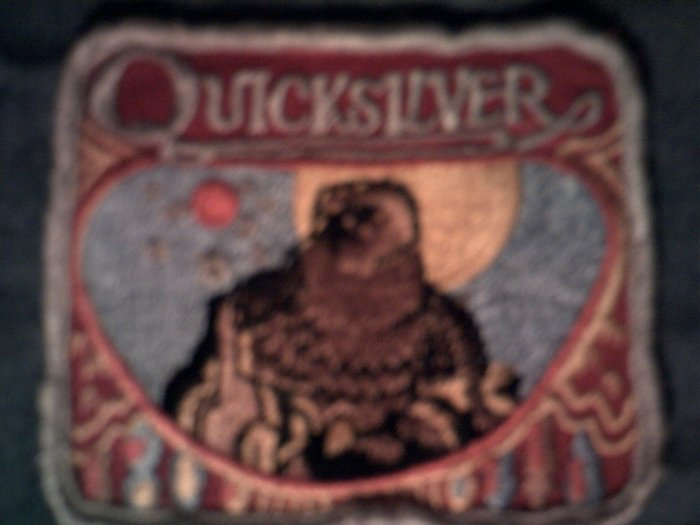 QUICKSILVER MESSENGER SERVICE sew-on PATCH 1st album logo VINTAGE 70s!