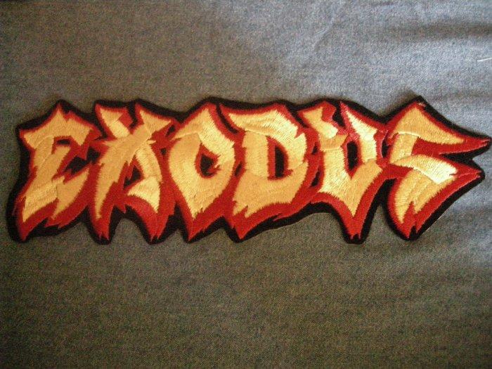 EXODUS iron-on PATCH red/yellow logo metal VINTAGE JUMBO