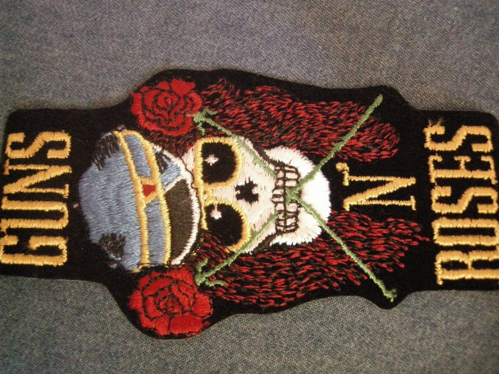 GUNS N ROSES iron-on PATCH civil war skull gnr VINTAGE