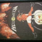 HELLOWEEN sew-on PATCH pumpkin girl band pic VINTAGE