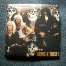 GUNS N ROSES PINBACK BUTTON square band pic appetite cross gnr VINTAGE