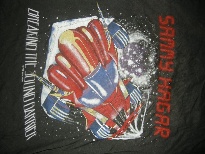 SAMMY HAGAR SHIRT 1983 USA Tour Breaking the Sound Barrier M VINTAGE 80s