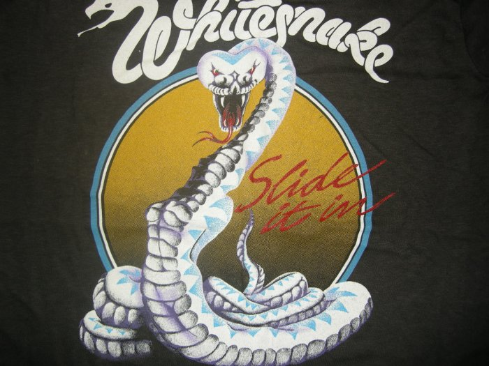WHITESNAKE SHIRT Slide It In US Tour TANK M VINTAGE 80s