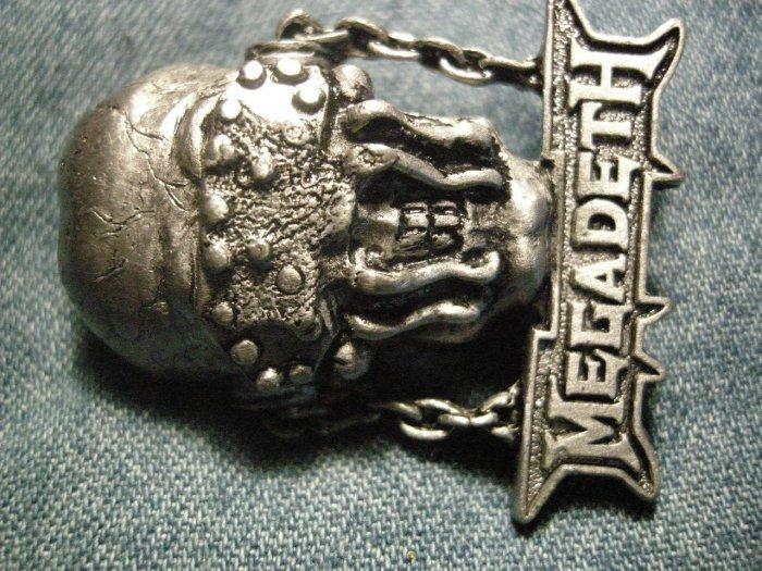 MEGADETH METAL PIN vic rattlehead logo badge VINTAGE