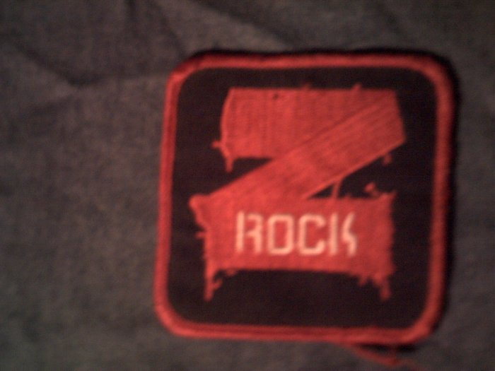 Z ROCK iron-on PATCH red zrock radio logo SCARCE