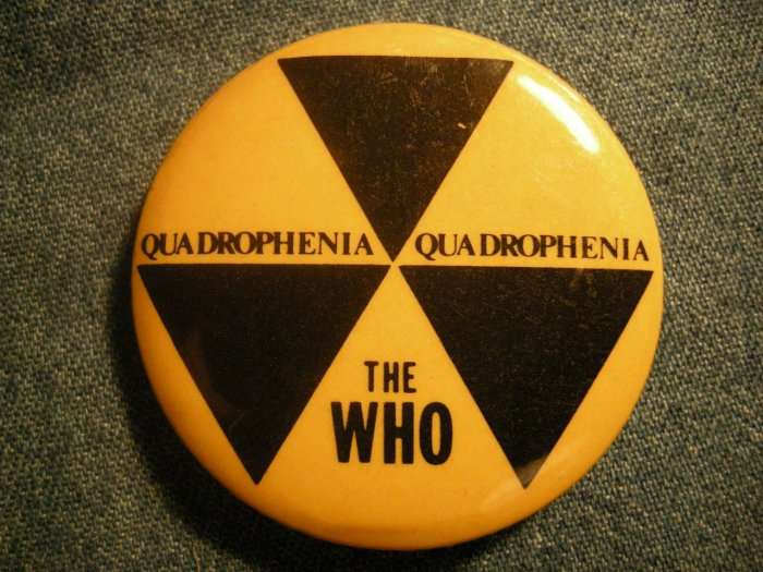 THE WHO PINBACK BUTTON Quadrophenia VINTAGE
