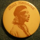 JIMI HENDRIX PINBACK BUTTON headband pic VINTAGE 70s
