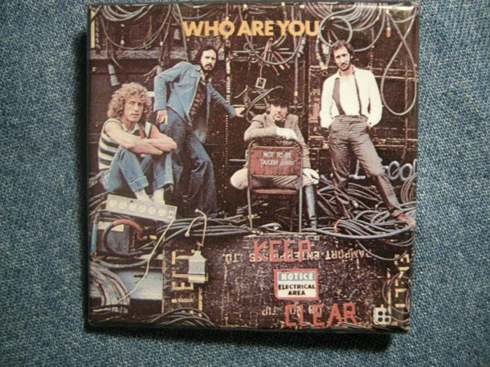 THE WHO PINBACK BUTTON Who Are You square VINTAGE JUMBO