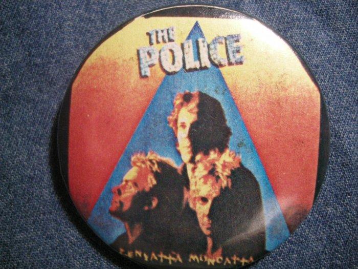 THE POLICE PINBACK BUTTON Zenyatta Mondatta sting VINTAGE