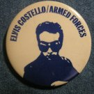 ELVIS COSTELLO PINBACK BUTTON Armed Forces VINTAGE