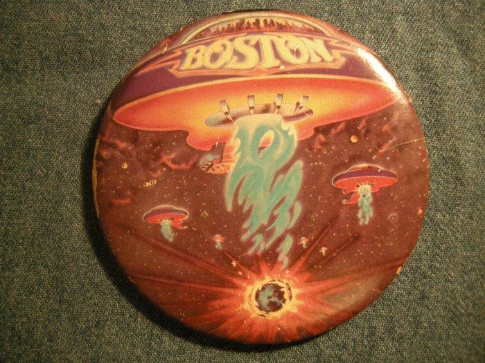 BOSTON PINBACK BUTTON 1st Album VINTAGE JUMBO