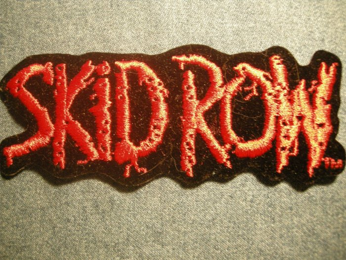 SKID ROW iron-on PATCH red logo VINTAGE 80s