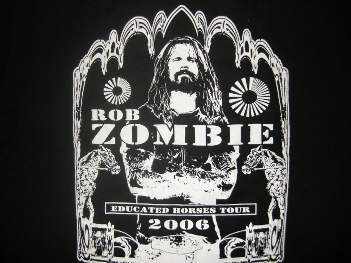 ROB ZOMBIE 2006 TOUR SHIRT Educated Horses lacuna coil L