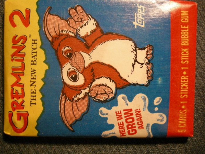 GREMLINS 2 TRADING CARDS 1990 the New Batch movie SEALED PACK