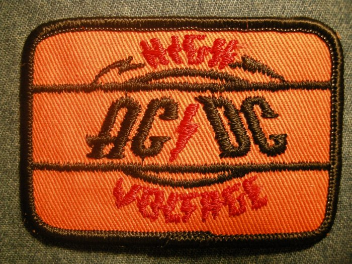 AC/DC iron-on PATCH High Voltage logo acdc VINTAGE