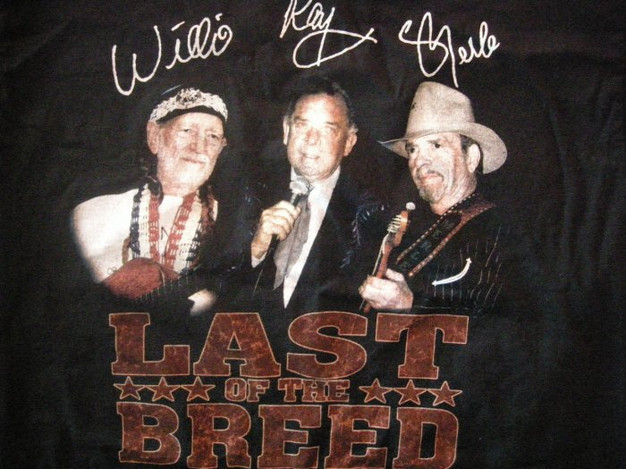 WILLIE NELSON SHIRT Last of the Breed merle haggard ray price country L
