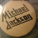 MICHAEL JACKSON PINBACK BUTTON judas priest logo VINTAGE 80s!