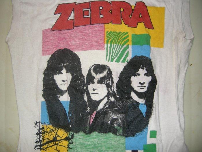 ZEBRA SHIRT 1983 Tour randy jackson TANK M VINTAGE 80s