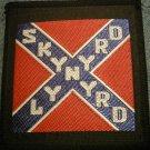 LYNYRD SKYNYRD iron-on PATCH square rebel flag logo VINTAGE