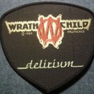WRATHCHILD sew-on PATCH Delirium logo VINTAGE