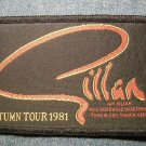 IAN GILLAN sew-on PATCH Autumn Tour 1981 deep purple VINTAGE