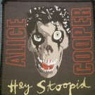 ALICE COOPER sew-on PATCH Hey Stoopid skull VINTAGE