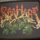 SEA HAGS sew-on PATCH fish heads logo VINTAGE