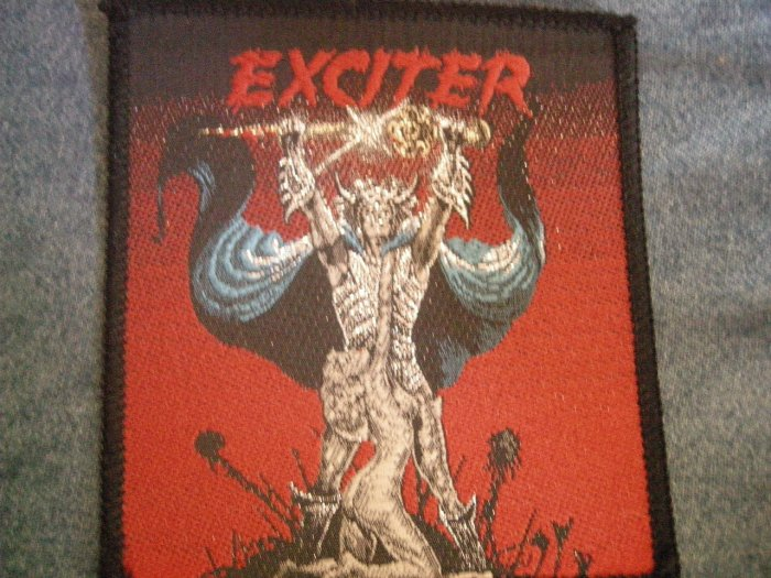 EXCITER sew-on PATCH Long Live the Loud VINTAGE