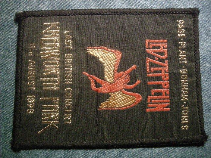 LED ZEPPELIN sew-on PATCH Knebworth Concert swan song logo VINTAGE