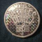 THE BEATLES iron-on PATCH prism white treble logo round VINTAGE 70s