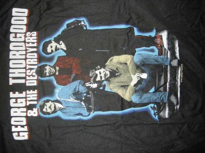 GEORGE THOROGOOD & THE DESTROYERS SHIRT 1985 Tour L VINTAGE 80s