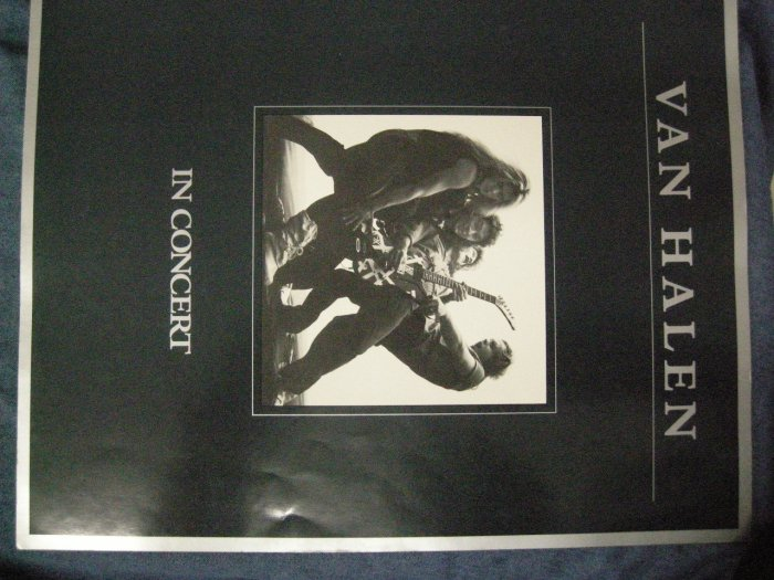 VAN HALEN 1980 TOUR BOOK Women and Children First david lee roth program VINTAGE