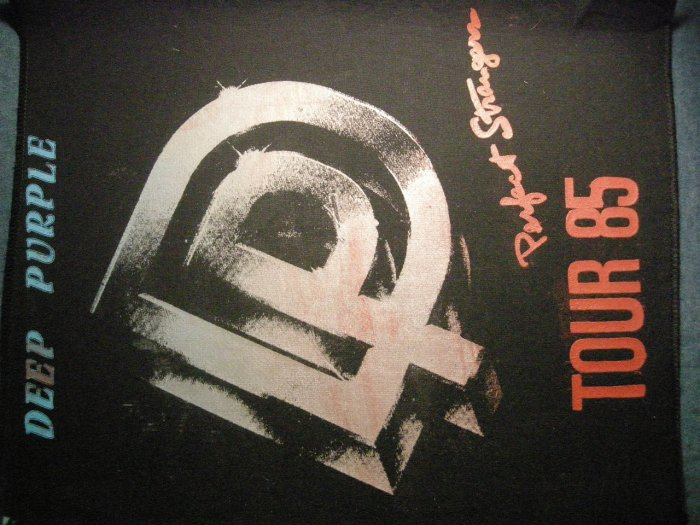 DEEP PURPLE BACKPATCH Perfect Strangers Tour 1985 patch VINTAGE